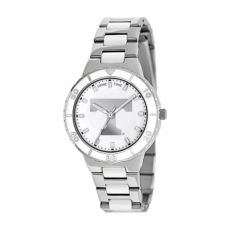 Game Time Pearl Series Tennessee Volunteers Stainless Steel and White Ceramic Mother-of-Pearl Watch - COL-PEA-TEN - Women