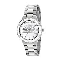 Game Time Pearl Series Colorado Rockies Stainless Steel & White Ceramic Mother-of-Pearl Watch - MLB-PEA-COL - Women