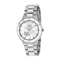 Game Time Pearl Series Kansas City Royals Stainless Steel & White Ceramic Mother-of-Pearl Watch - MLB-PEA-KC - Women