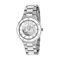 Game Time Pearl Series New York Mets Stainless Steel & White Ceramic Mother-of-Pearl Watch - MLB-PEA-NYM - Women