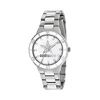Game Time Pearl Series Dallas Cowboys Silver Tone & White Ceramic Mother-of-Pearl Watch - NFL-PEA-DAL - Women