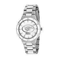 Game Time Pearl Series Green Bay Packers Silver Tone & White Ceramic Mother-of-Pearl Watch - NFL-PEA-GB - Women