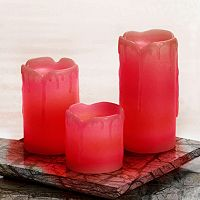 Inglow 3-pc. Flameless LED Melted Pillar Candle Set