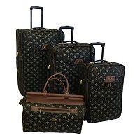 American Flyer Lyon 4-Piece Wheeled Luggage Set