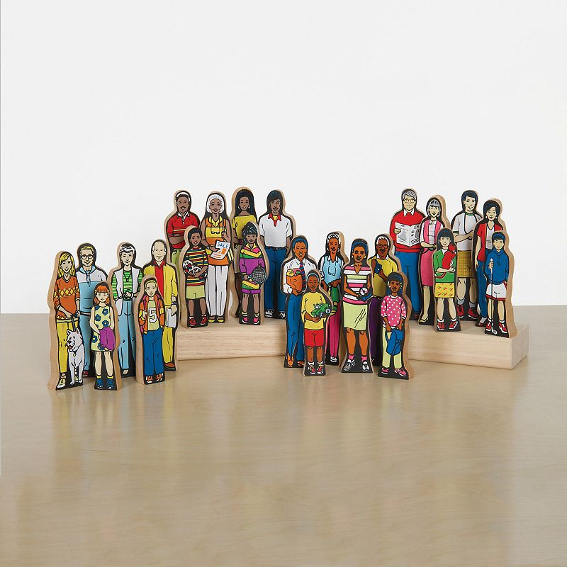Guidecraft Multicultural Family Figures Set