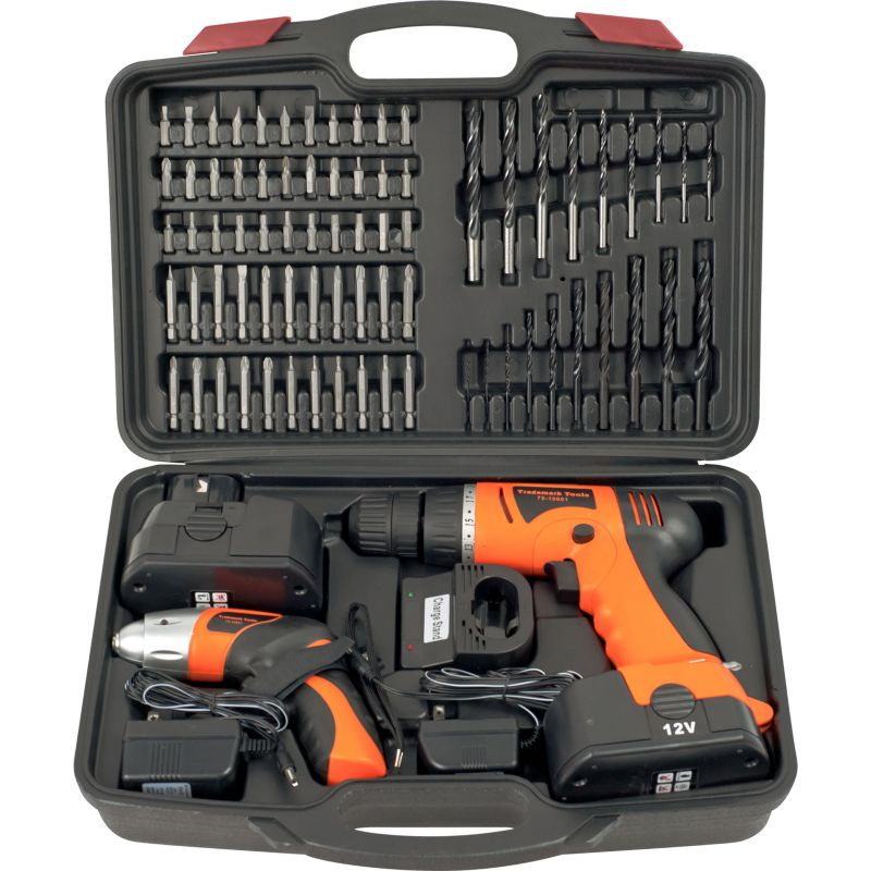 74-pc. Cordless Drill and Screwdriver Set, Multicolor