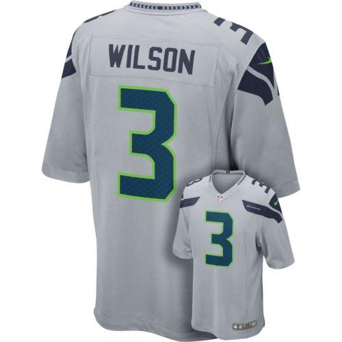 Men's Nike Seattle Seahawks Russell Wilson Game NFL Replica Jersey