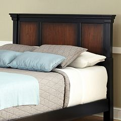 Aspen Black Rustic Cherry King Headboard by