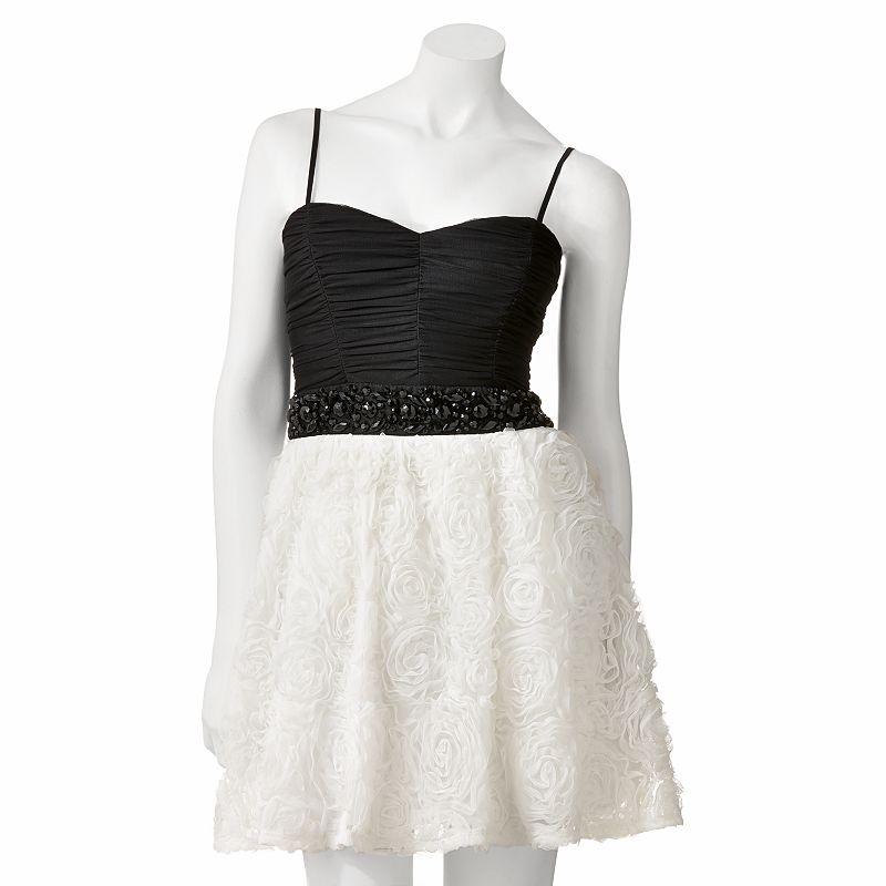 Juniors' Trixxi Floral Beaded Dress