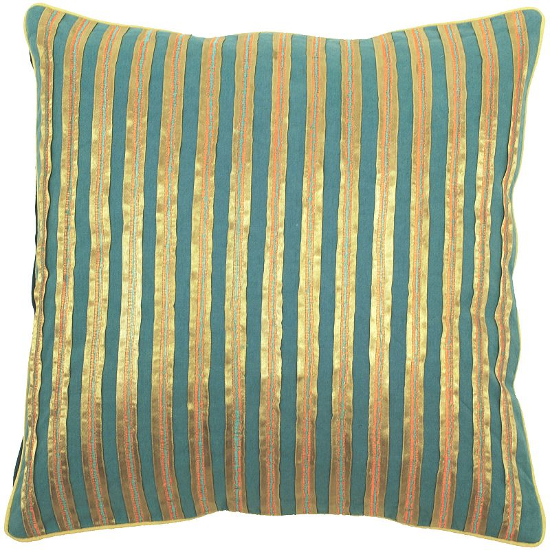 Decor 140 Bulls Striped Decorative Pillow - 18'' x 18''