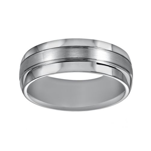 Cherish Always Tungsten Carbide Wedding Band - Men