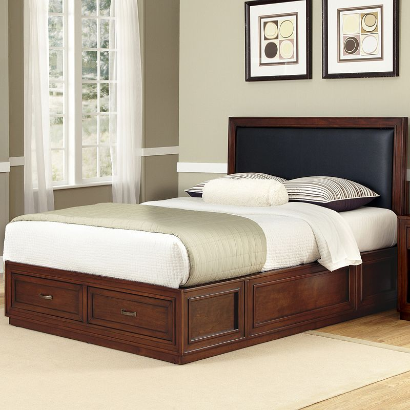 Home Styles 3-pc. Rustic Cherry Queen Headboard, Footboard and Frame Set