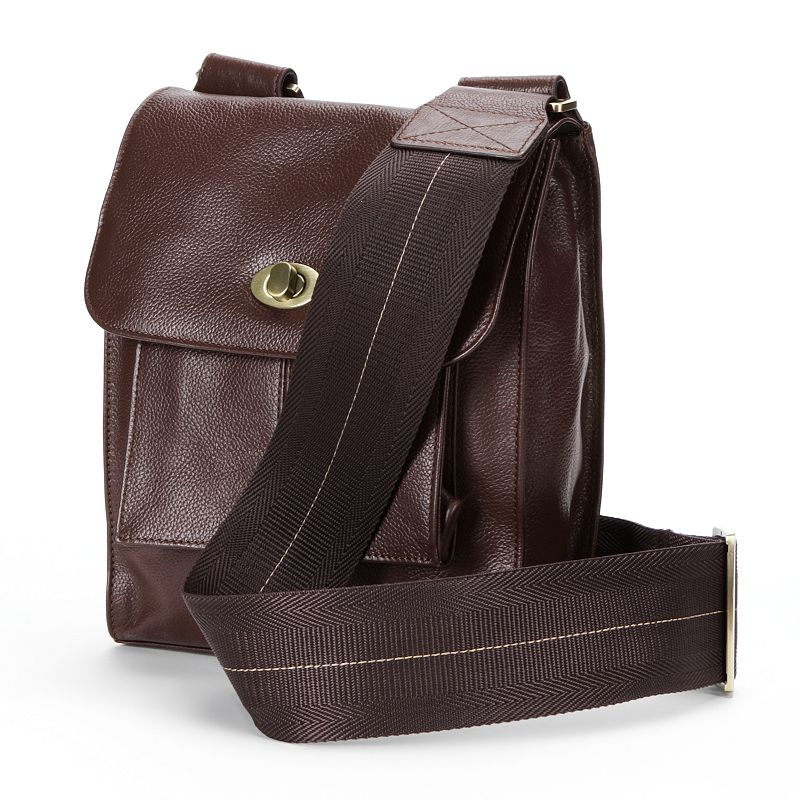 AmeriLeather Antony Leather Mini Messenger Bag