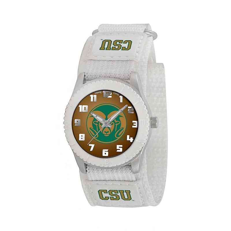Game Time Rookie Series Colorado State Rams Silver Tone Watch - COL-ROW-CSU - Kids