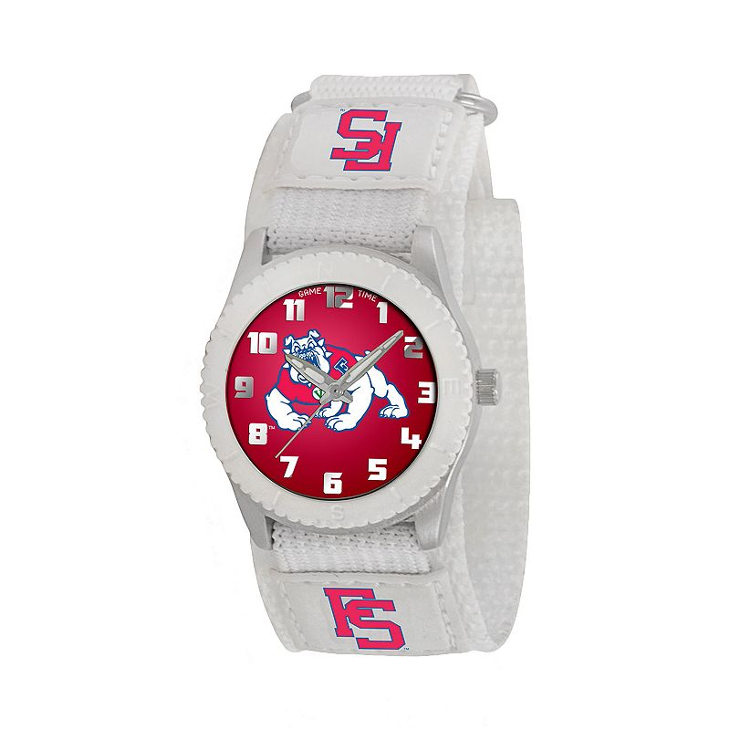 Game Time Rookie Series Fresno State Bulldogs Silver Tone Watch - COL-ROW-FRE - Kids