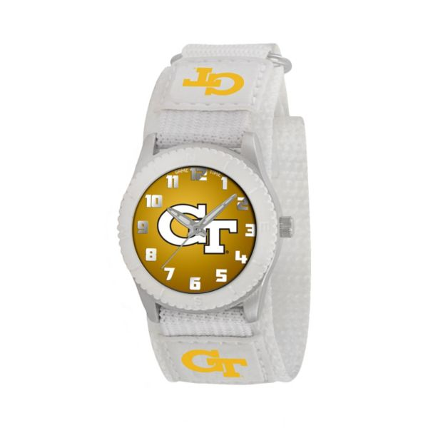 Game Time Rookie Series Georgia Tech Yellow Jackets Silver Tone Watch - COL-ROW-GT - Kids