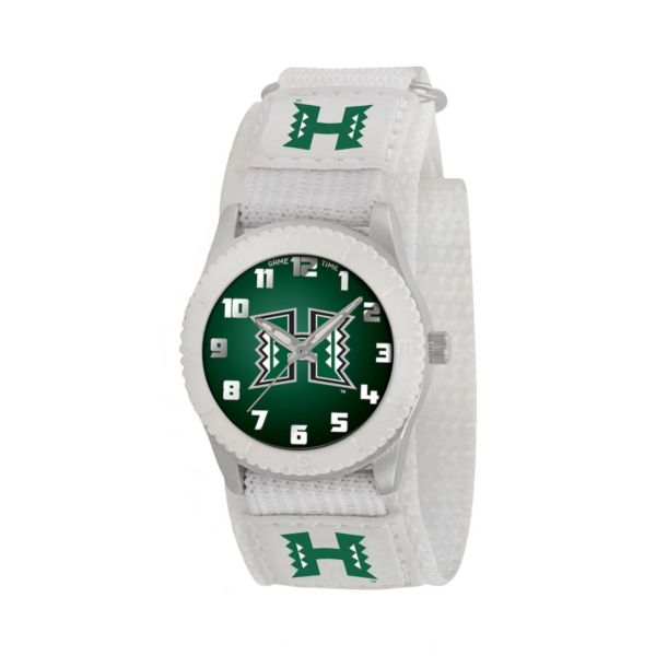 Game Time Rookie Series Hawaii Warriors Silver Tone Watch - COL-ROW-HAW - Kids