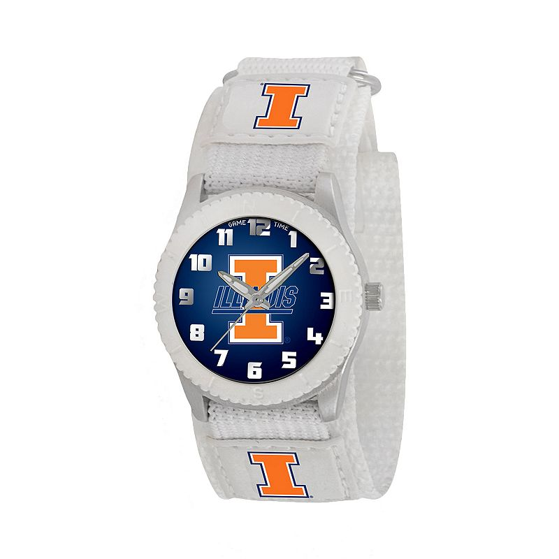 Game Time Rookie Series Illinois Fighting Illini Silver Tone Watch - COL-ROW-ILL - Kids