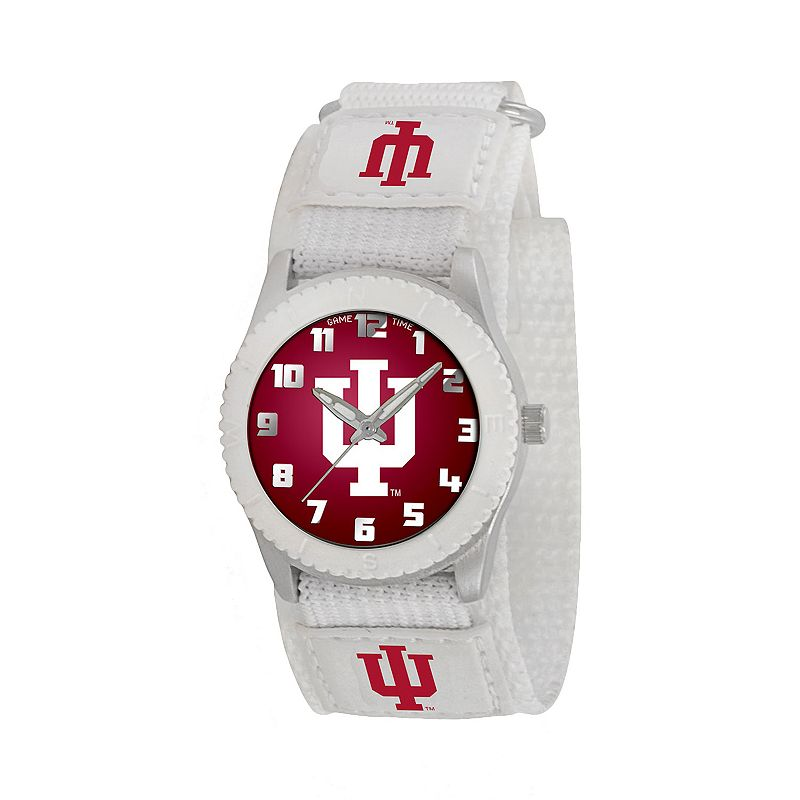 Game Time Rookie Series Indiana Hoosiers Silver Tone Watch - COL-ROW-IND - Kids