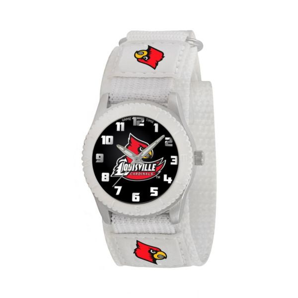 Game Time Rookie Series Louisville Cardinals Silver Tone Watch - COL-ROW-LOU - Kids
