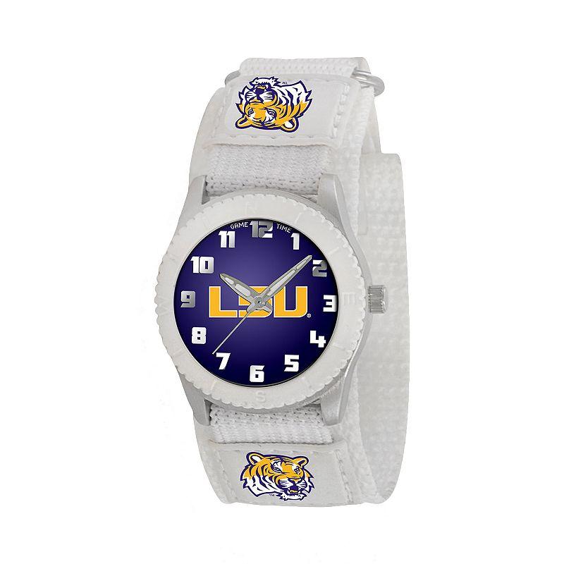 Game Time Rookie Series LSU Tigers Silver Tone Watch - COL-ROW-LSU - Kids