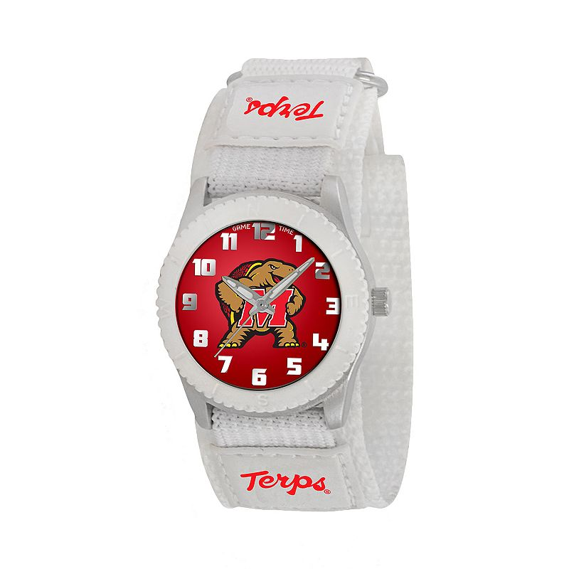 Game Time Rookie Series Maryland Terrapins Silver Tone Watch - COL-ROW-MD - Kids