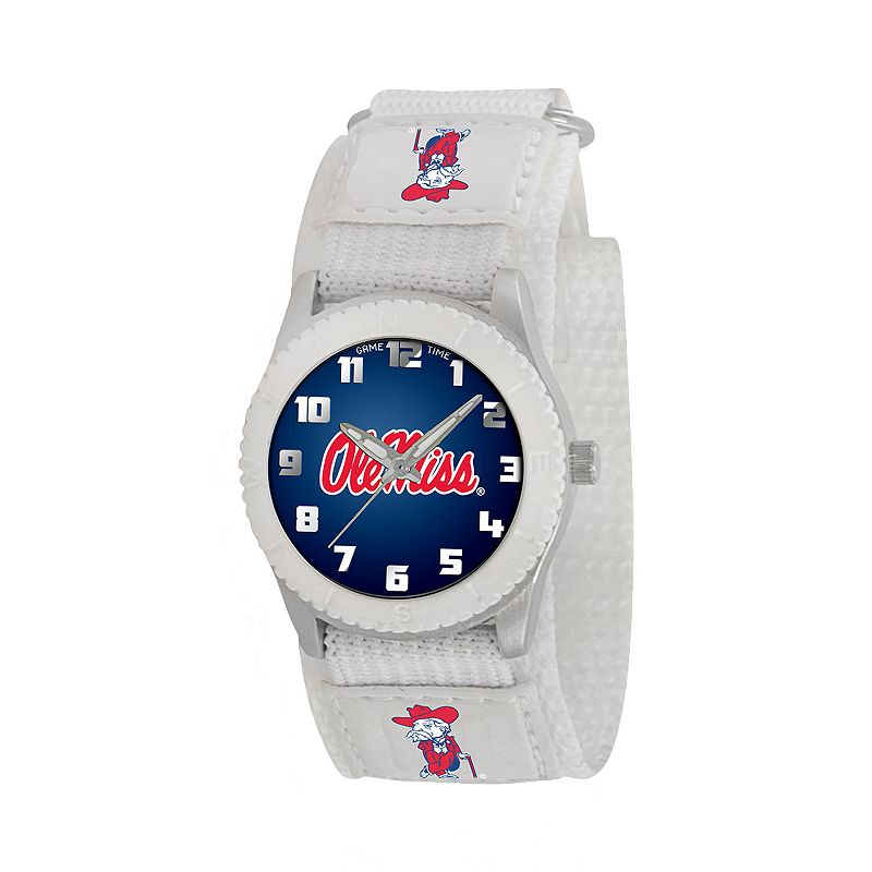 Game Time Rookie Series Ole Miss Rebels Silver Tone Watch - COL-ROW-MIS - Kids