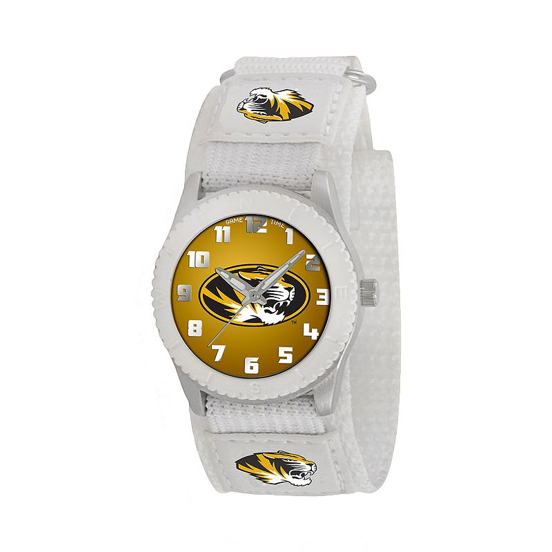 Game Time Rookie Series Missouri Tigers Silver Tone Watch - COL-ROW-MO - Kids