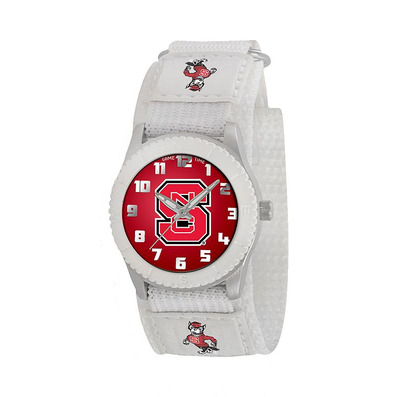 Game Time Rookie Series North Carolina State Wolfpack Silver Tone Watch - COL-ROW-NCS - Kids
