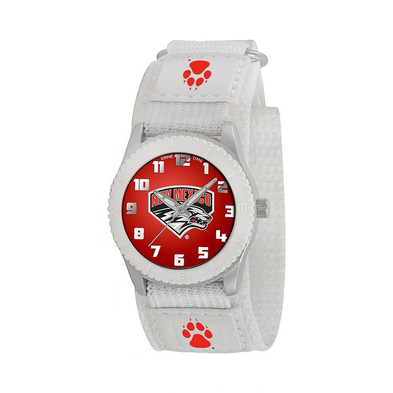 Game Time Rookie Series New Mexico Lobos Silver Tone Watch - COL-ROW-NM - Kids