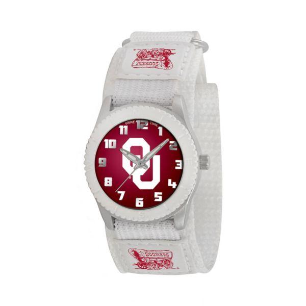 Game Time Rookie Series Oklahoma Sooners Silver Tone Watch - COL-ROW-OK - Kids