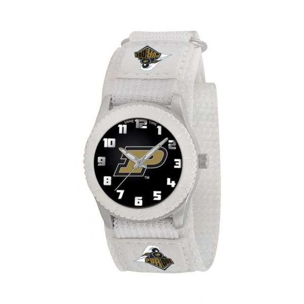 Game Time Rookie Series Purdue Boilermakers Silver Tone Watch - COL-ROW-PUR - Kids