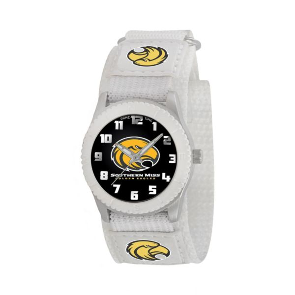 Game Time Rookie Series Southern Miss Golden Eagles Silver Tone Watch - COL-ROW-SMS - Kids