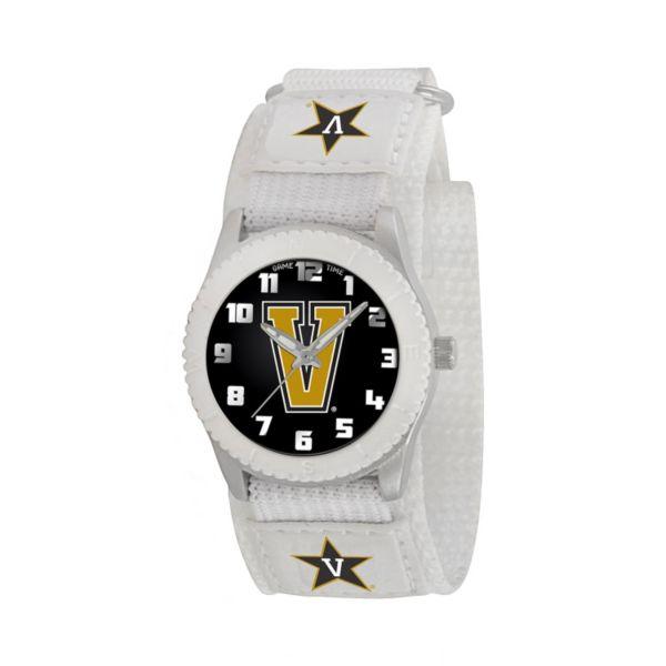 Game Time Rookie Series Vanderbilt Commodores Silver Tone Watch - COL-ROW-VAN - Kids
