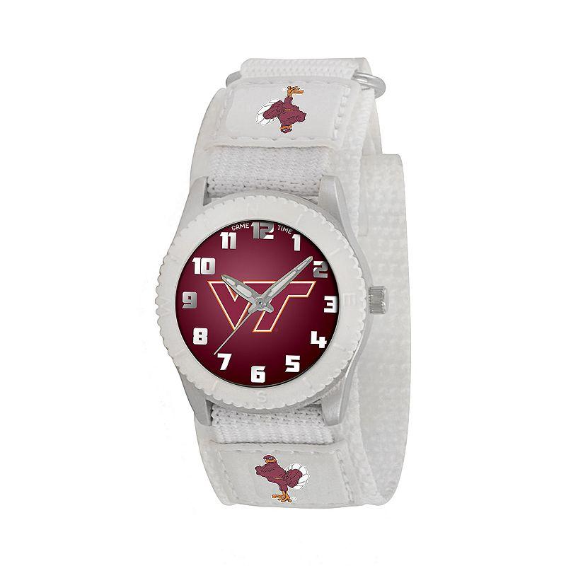 Game Time Rookie Series Virginia Tech Hokies Silver Tone Watch - COL-ROW-VAT - Kids