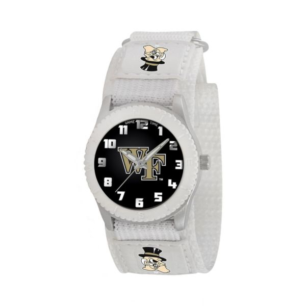 Game Time Rookie Series Wake Forest Demon Deacons Silver Tone Watch - COL-ROW-WF - Kids
