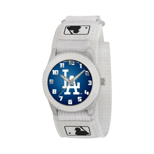 Game Time Rookie Series Los Angeles Dodgers Silver Tone Watch - MLB-ROW-LA - Kids