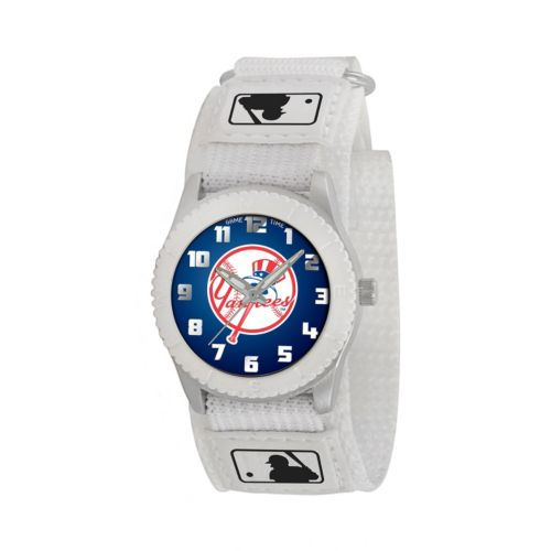Game Time Rookie Series New York Yankees Silver Tone Watch - MLB-ROW-NY5 - Kids