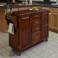 Cherry-Top 4-Drawer Kitchen Cart