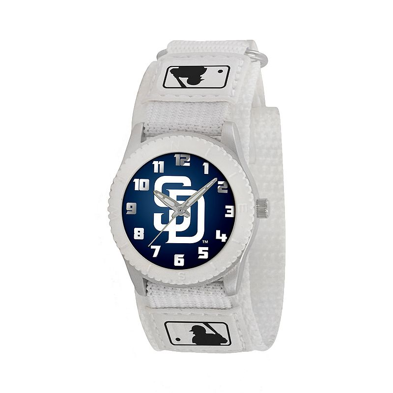Game Time Rookie Series San Diego Padres Silver Tone Watch - MLB-ROW-SD - Kids