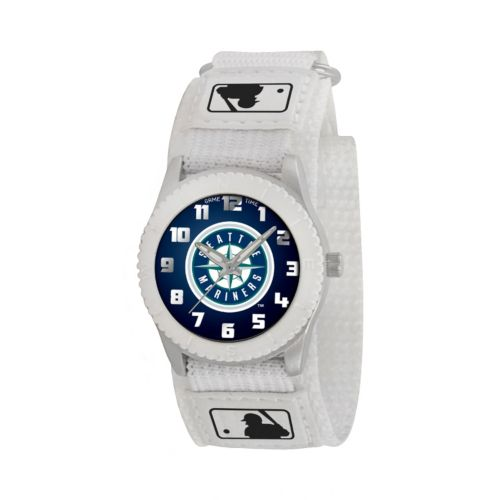 Game Time Rookie Series Seattle Mariners Silver Tone Watch - MLB-ROW-SEA - Kids