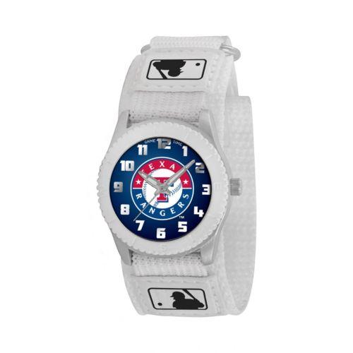 Game Time Rookie Series Texas Rangers Silver Tone Watch - MLB-ROW-TEX - Kids