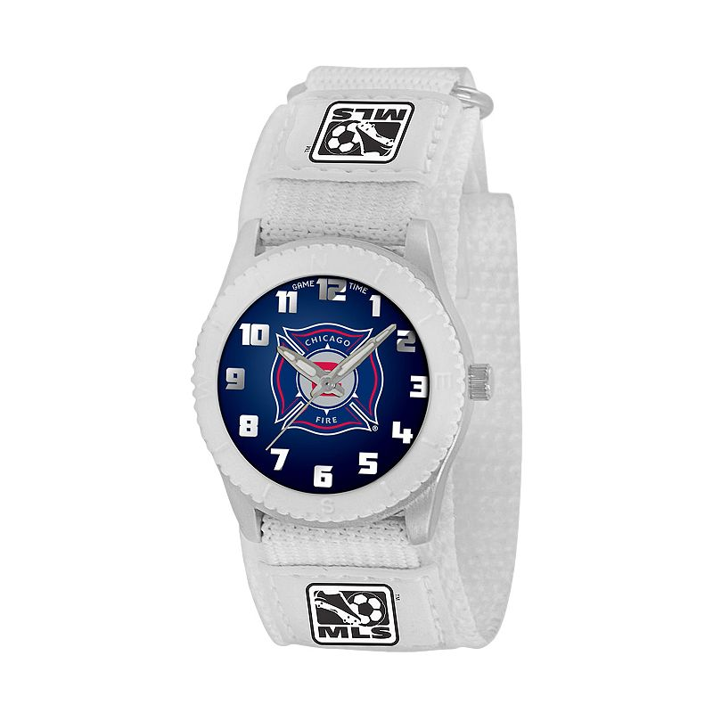 Game Time Rookie Series Chicago Fire Silver Tone Watch - MLS-ROW-CHI - Kids