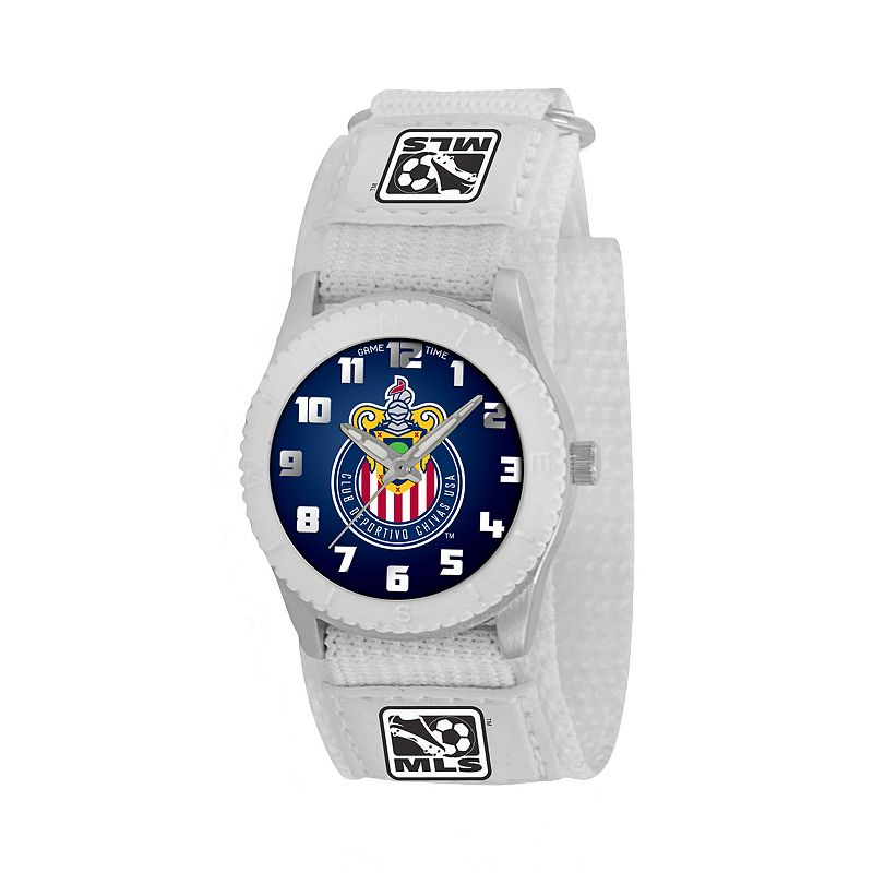 Game Time Rookie Series Chivas USA Silver Tone Watch - MLS-ROW-CHV - Kids