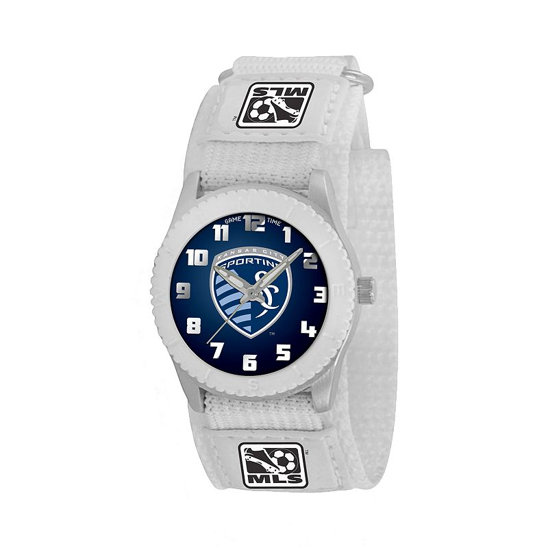 Game Time Rookie Series Sporting Kansas City Silver Tone Watch - MLS-ROW-KC - Kids