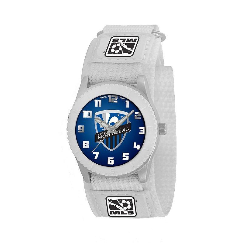 Game Time Rookie Series Montreal Impact Silver Tone Watch - MLS-ROW-MON - Kids