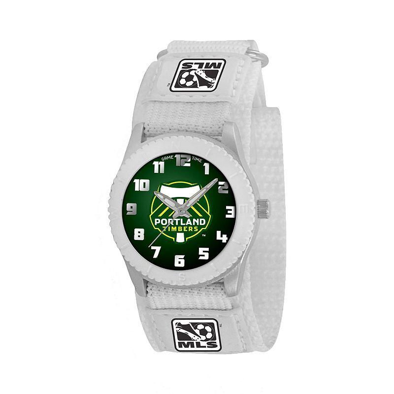 Game Time Rookie Series Portland Timbers Silver Tone Watch - MLS-ROW-POR - Kids