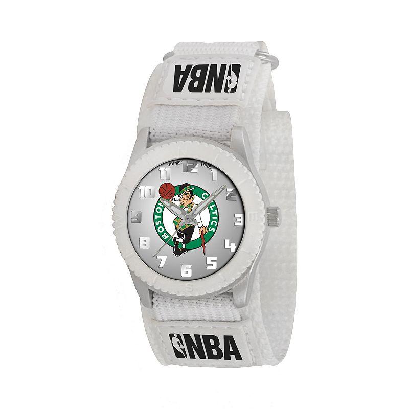 Game Time Rookie Series Boston Celtics Silver Tone Watch - NBA-ROW-BOS - Kids