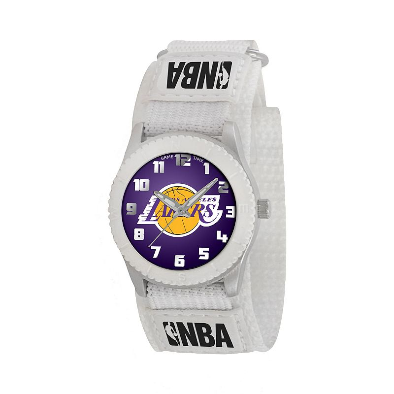 Game Time Rookie Series Los Angeles Lakers Silver Tone Watch - NBA-ROW-LAL - Kids