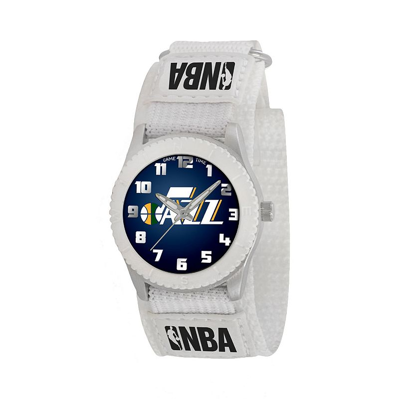 Game Time Rookie Series Utah Jazz Silver Tone Watch - NBA-ROW-UTA - Kids